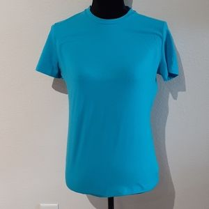 THEORY teal stretch top, size LARGE, wore 1x